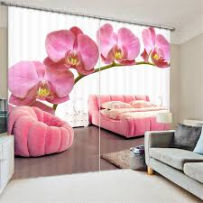 Hotel Drapes Beautiful Pansy Painting Blackout Curtains Living Room Hotel