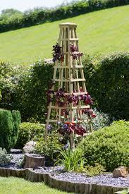 garden obelisks wooden home outdoor decoration