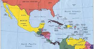 Mexico On Map Map Of Mexico Central America South America And The Caribbean