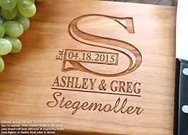 cutting board wedding gift monogram personalized engraved cutting board wedding gift