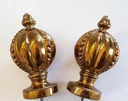 Antique Banister Bed Finials Etsy