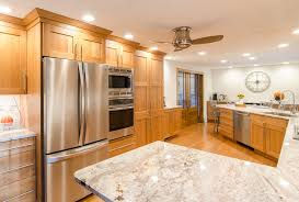 Kitchen Granite Countertops by Transitional Kitchen Granite Countertop Natural Cherry Cabinets