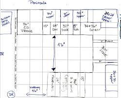 Kitchen Floor Plans Designs by Cute Kitchen Floor Plans Peninsula