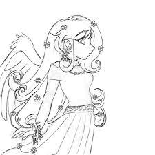 mlp fluttershy human version sketch u2014 weasyl