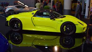 green porsche the eye catching lime green porsche 918 at top marques monaco show