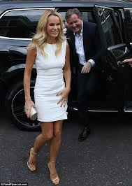 amanda holden pictured at a london party for itv stars in a white