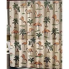 Flamingo Shower Curtains Amazon Com Splash Bath Eva Pink Flamingo Shower Curtain Home