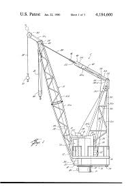 Pedestal Crane Patent Us4184600 Method For Removing A Bearing Assembly Of A