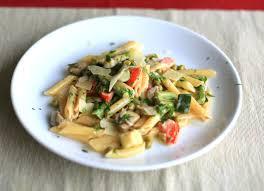 pasta primavera with asparagus zucchini mushrooms and spring