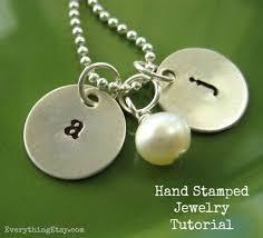 Hand Stamped Necklace Hand Stamped Necklace Tutorial Diy Gift