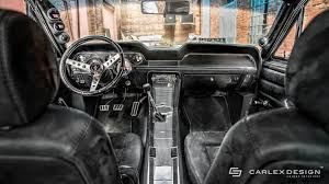 ford mustang 1967 interior 1967 ford mustang gets a modern interior by carlex design
