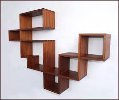 wonderful floating abstract bookshelf design inspiration interior