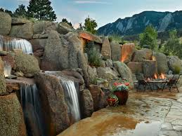 exterior design small backyard pond ideas with boulders and