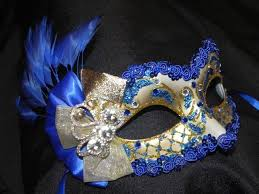 blue masquerade masks royal blue and gold feather masquerade mask made to order