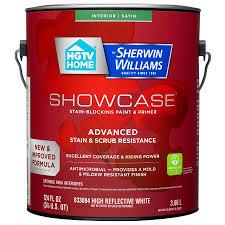 shop hgtv home by sherwin williams showcase tint base satin