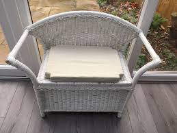 Resin Rocking Chair Attractive White Wicker Bench With Lombok Cushion And Storage