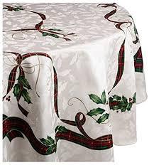 lenox nouveau tablecloth 70 inch ivory