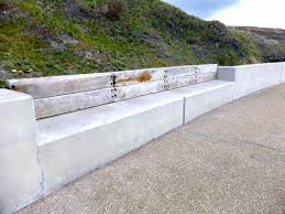 diy curved bench concrete bench concrete benches salem oregon curved concrete bench