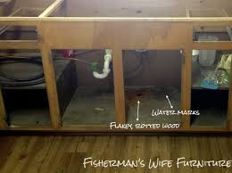 Kitchen Faucet Leaking Under Sink Fisherman U0027s Wife Furniture Waterproofing Under The Sink