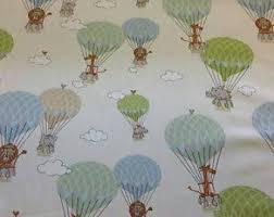 Fabric For Nursery Curtains Air Balloon Fabric Etsy