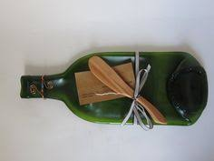 wine bottle cheese trays slumped wine bottle platter cheese tray spoon rest recycled