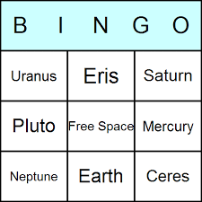 planets bingo cards printable bingo activity game and templates