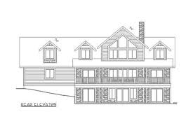 house plans for sloped lots 3 bed sloping lot house plan with grand rear deck 35514gh