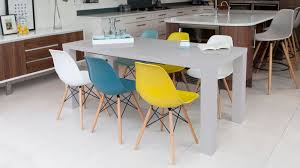 eames inspired dining table grey gloss extending dining table and eames dining chairs