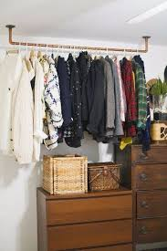 Bedroom Clothes Best 25 Hanging Clothes Racks Ideas On Pinterest Within Storage