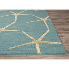 Nautical Themed Rugs Decorating Remarkable Charming Starfish Rug With Star Fish Pattern