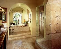 brilliant luxury master bathroom shower with wooden cabinet and