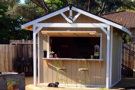 how to make a bar shed from a backyard garden shed simplemost