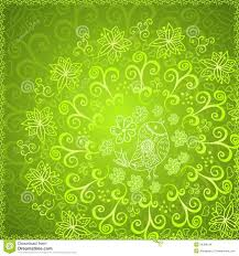 green abstract floral ornament background stock images image