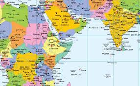 Jerusalem World Map by Vinyl World Map Size 90 X 70 Cm Approx Gm Amazon Co Uk