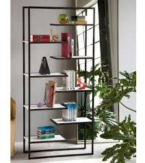 Industrial Metal Bookshelf Industrial Style Bookcase 4 Wood Shelves Black Metal Frame X Shape