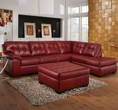 dark red leather sofa stylish red leather couches home decor furniture