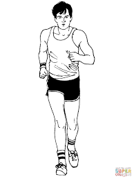 man marathon runner coloring page free printable coloring pages