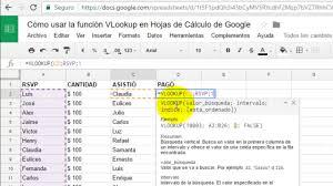 tutorial para usar vlookup cómo usar la función vlookup en hojas de cálculo de google youtube