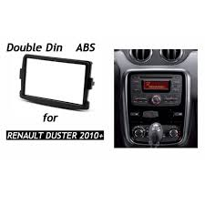 renault duster 2017 black double din fascia for renault duster dacia duster stereo dash kit