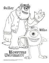 monsters university coloring terri u0026 terry perry colorear