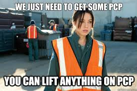 Parks And Rec Meme - we just need to get some pcp you can lift anything on pcp pcp
