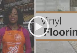 laying out a vinyl tile floor at the home depot