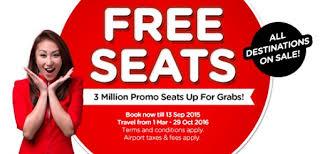 airasia singapore promo airasia free seats promotion 2016 airasia promotions