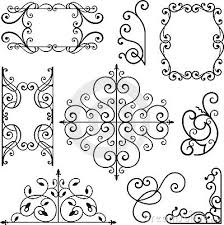 wrought iron ornaments embroidery patterns irons