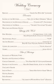 exles of wedding program ceremony wording exles 28 images best photos of wedding