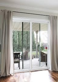 image result for sliding door curtains