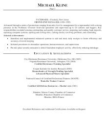 Fitness Resume Sample by Personal Trainer Resume Examples Ilivearticles Info