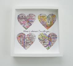 unique wedding gift personalized map heart gift any location