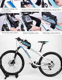 bike waterproofs rockbros cycling bike waterproof detachable beam bag screen touch