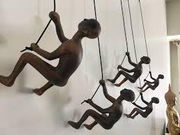 5 piece climbing sculpture wall art gift for home decor interior